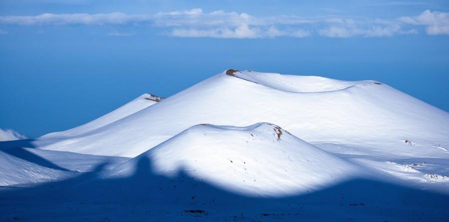 Cinder cones atop Mauna Kea in Hawaii