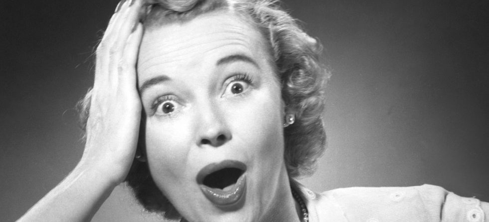 UNITED STATES - CIRCA 1950s:  Woman with surprised look.  (Photo by George Marks/Retrofile/Getty Images)