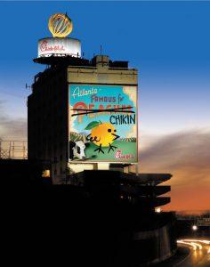 Atlanta Giant Wall Ad